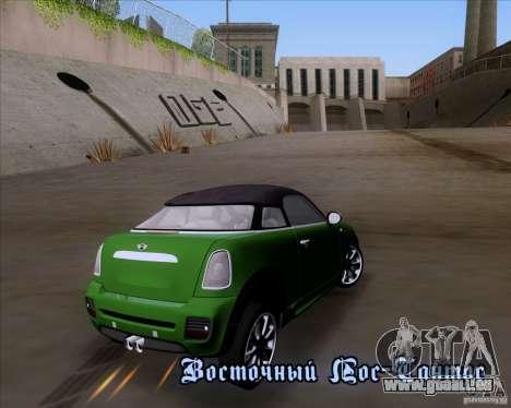 Mini Cooper Concept v1 2010 für GTA San Andreas zurück linke Ansicht