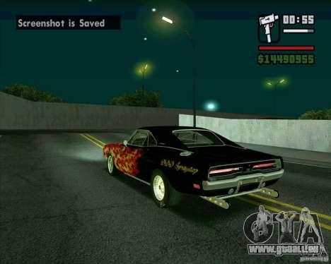 Dodge Charger R/T 69 pour GTA San Andreas sur la vue arrière gauche
