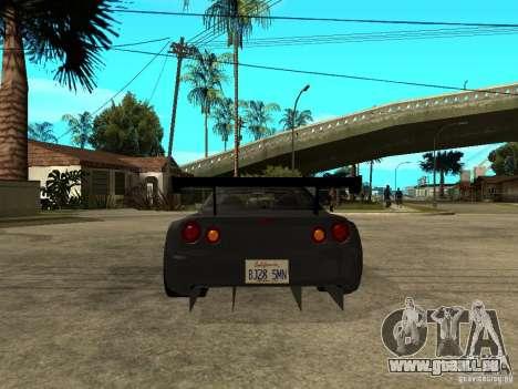 Nissan Skyline R34 GT-R für GTA San Andreas zurück linke Ansicht