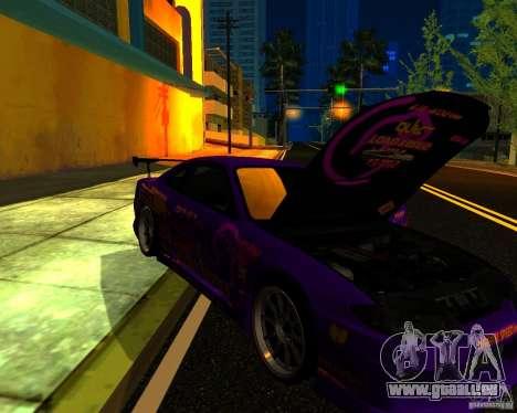 Nissan Silvia C-West pour GTA San Andreas vue intérieure