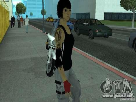 Mirrors Edge Faith pour GTA San Andreas deuxième écran