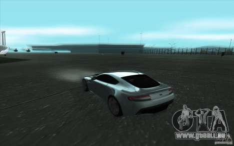 Aston Martin V12 Vantage für GTA San Andreas Innenansicht