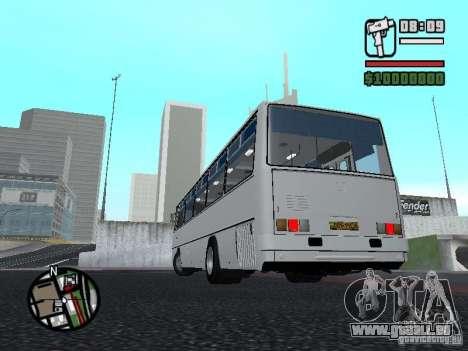 Ikarus 266 Stadt für GTA San Andreas zurück linke Ansicht