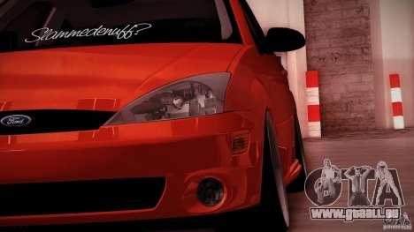 Ford Focus SVT Clean pour GTA San Andreas sur la vue arrière gauche