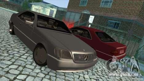 Mercedes Benz 600 Sec pour GTA San Andreas vue de côté