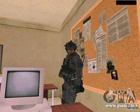 Peau du soldat de Cod MW 2 pour GTA San Andreas troisième écran