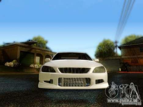 Lexus IS300 Jap style pour GTA San Andreas vue intérieure