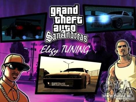 ELEGY TUNING MOD pour GTA San Andreas laissé vue