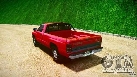 Dodge Ram 2500 1994 pour GTA 4 vue de dessus