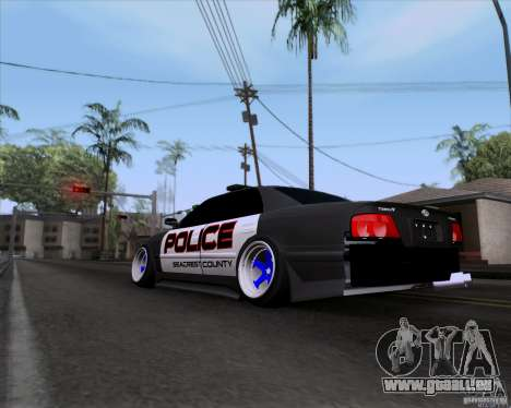Toyota Chaser jzx100 Drift Police für GTA San Andreas linke Ansicht