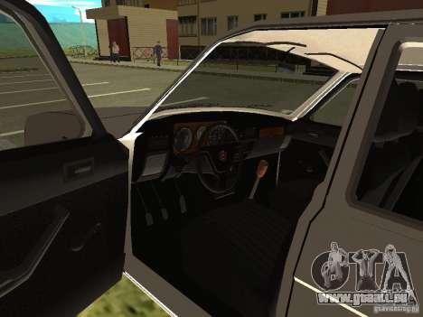 GAZ Volga 31022 pour GTA San Andreas vue arrière