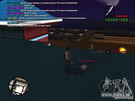 Couteau de CLEO pour GTA San Andreas quatrième écran