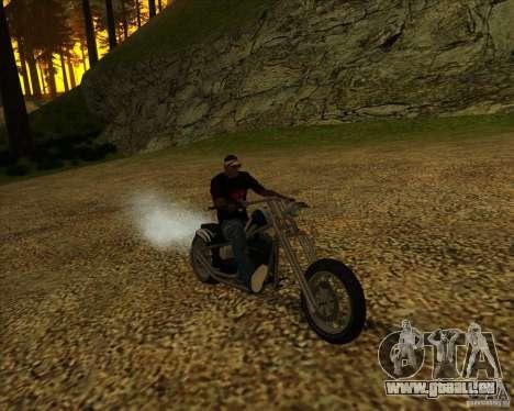 Hexer bike pour GTA San Andreas vue intérieure