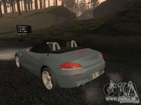 BMW Z4 pour GTA San Andreas sur la vue arrière gauche