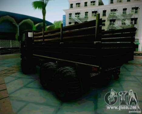 KAMAZ 4310 armée pour GTA San Andreas laissé vue