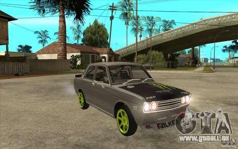Datsun 510 Drift für GTA San Andreas Rückansicht