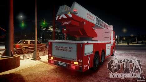 Scania Fire Ladder v1.1 Emerglights blue-red ELS pour le moteur de GTA 4