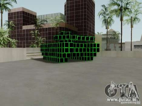 Pixel Tank pour GTA San Andreas laissé vue