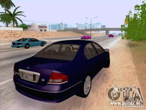 Ford Falcon Fairmont Ghia pour GTA San Andreas sur la vue arrière gauche