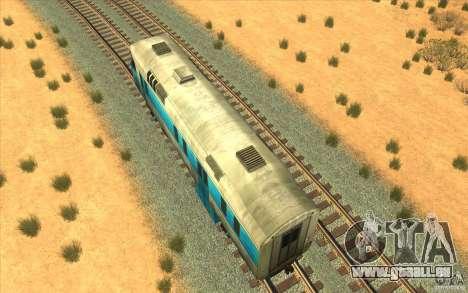 Un train reliant le jeu Half-Life 2 pour GTA San Andreas vue arrière