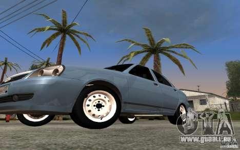 LADA Priora leichte tuning für GTA San Andreas Innenansicht
