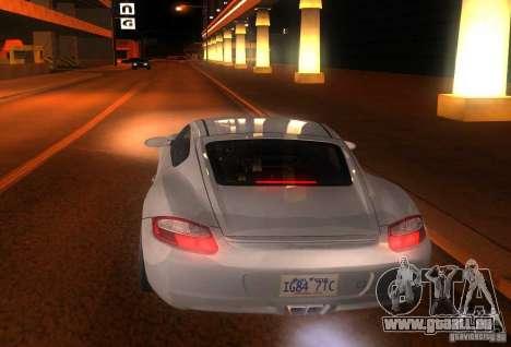 Porsche Cayman S pour GTA San Andreas vue arrière