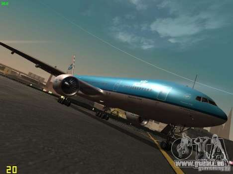 Boeing 777-200 KLM Royal Dutch Airlines pour GTA San Andreas