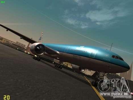 Boeing 777-200 KLM Royal Dutch Airlines für GTA San Andreas