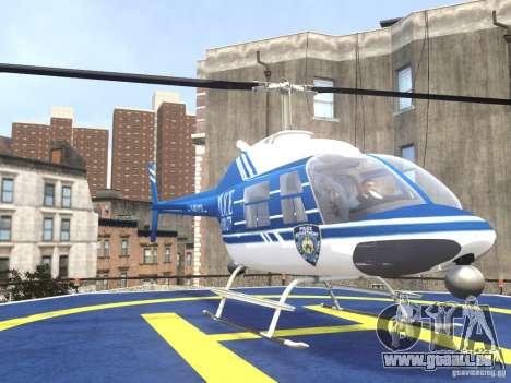 Bell 206 B - NYPD pour GTA 4 Vue arrière