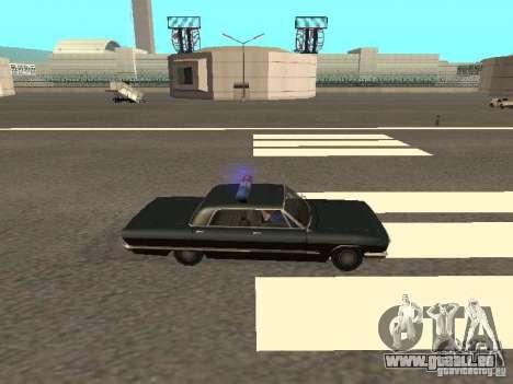 Police Savanna pour GTA San Andreas sur la vue arrière gauche