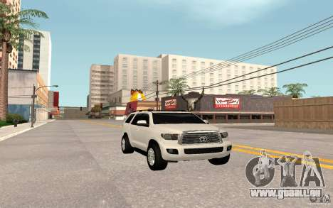 Toyota Sequoia 2011 pour GTA San Andreas sur la vue arrière gauche