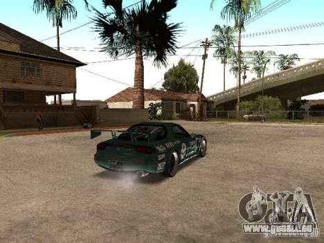 Mazda RX-7 Pro Street pour GTA San Andreas vue de droite