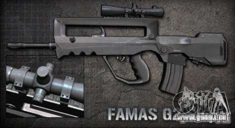 [Point Blank] Famas G2 Sniper für GTA San Andreas