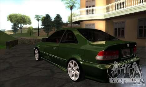Honda Civic 1995 pour GTA San Andreas sur la vue arrière gauche