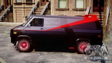 GMC Van G-15 1983 The A-Team für GTA 4 linke Ansicht