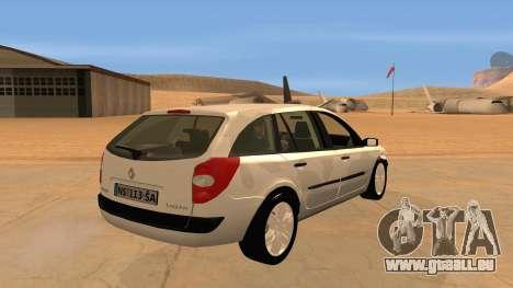 Renault Laguna II für GTA San Andreas Rückansicht