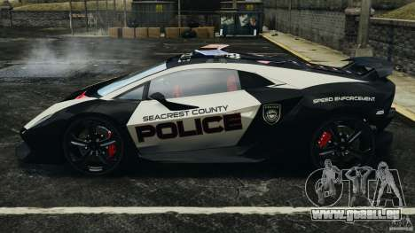 Lamborghini Sesto Elemento 2011 Police v1.0 ELS pour GTA 4