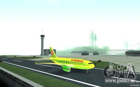 Airbus A310 S7 Airlines für GTA San Andreas linke Ansicht