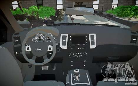 Jeep Grand Cheroke für GTA 4 obere Ansicht