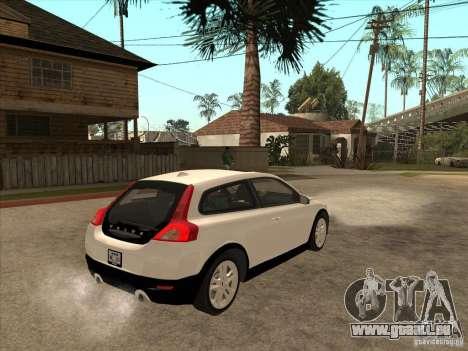 Volvo C30 für GTA San Andreas Rückansicht