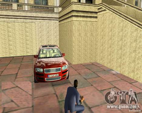 Audi A8 4.2 quattro für GTA Vice City zurück linke Ansicht
