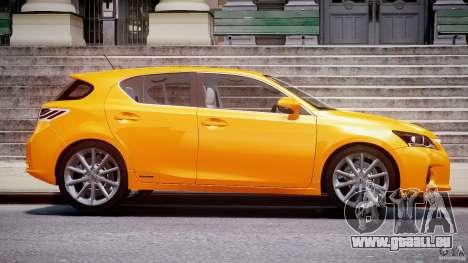 Lexus CT200h 2011 pour GTA 4 est une vue de l'intérieur