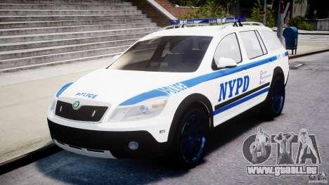 Skoda Octavia Scout NYPD [ELS] pour GTA 4 est une vue de l'intérieur