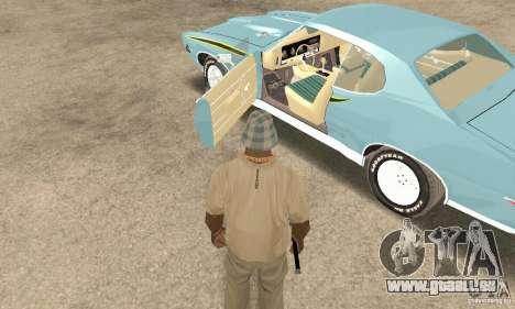 Pontiac GTO The Judge für GTA San Andreas Rückansicht