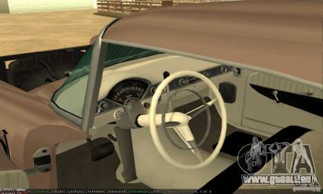 Chevrolet Bel Air Nomad 1956 pour GTA San Andreas vue arrière