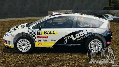 Citroen C4 WRC pour GTA 4 est une gauche