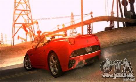 Ferrari California V3 pour GTA San Andreas sur la vue arrière gauche