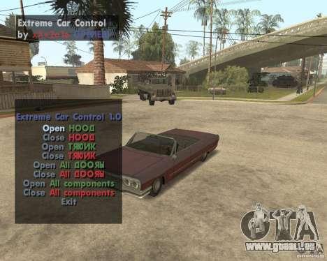 Extreme Car Mod (Single Player) für GTA San Andreas