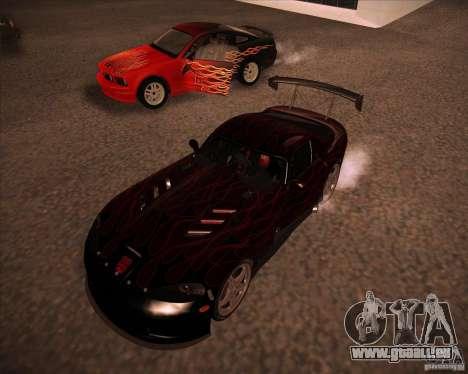 Dodge Viper TT pour GTA San Andreas laissé vue