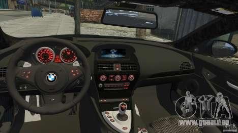 BMW M6 Hurricane RR pour GTA 4 Vue arrière